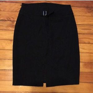 Black fitted pencil skirt from Express